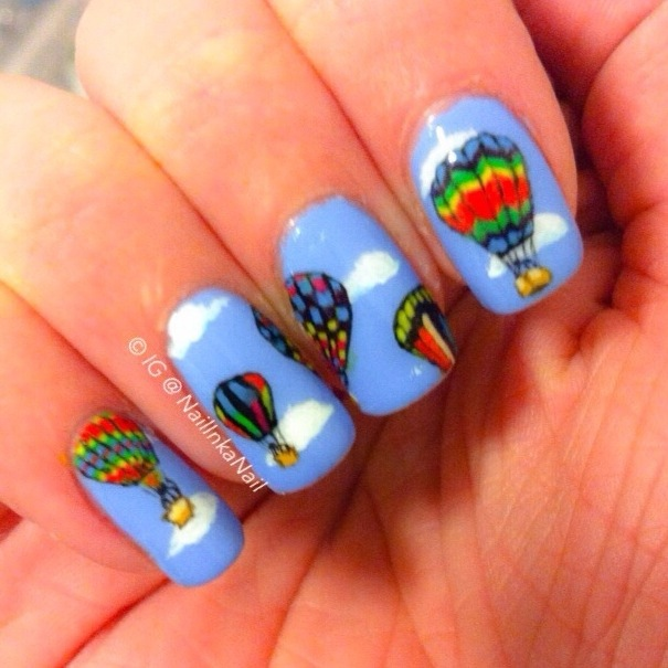 Hot air balloon nail art polished inka 20140123 152441g prinsesfo Choice Image