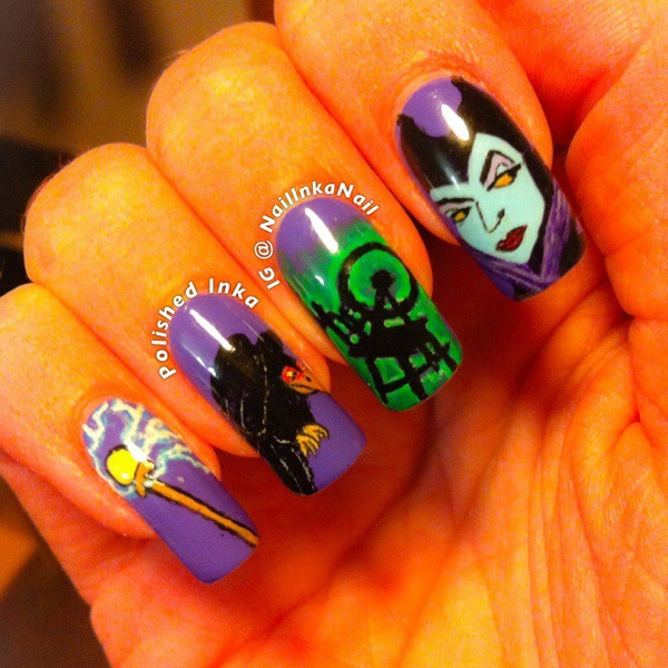 Sleeping Beauty Nail Art: Sleeping Beauty – Maleficent