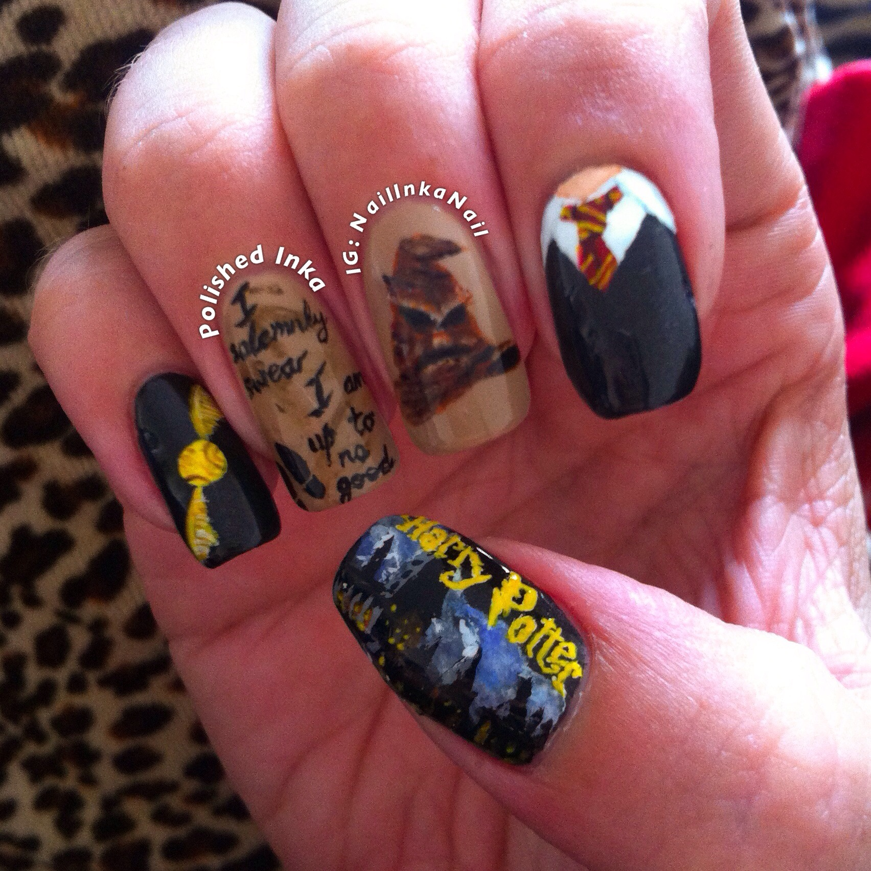 Harry Potter Nail Art Polished Inka