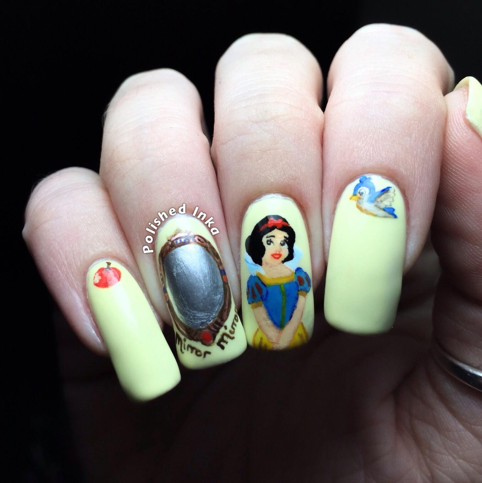 Disney Snow White Nail Art Polished Inka