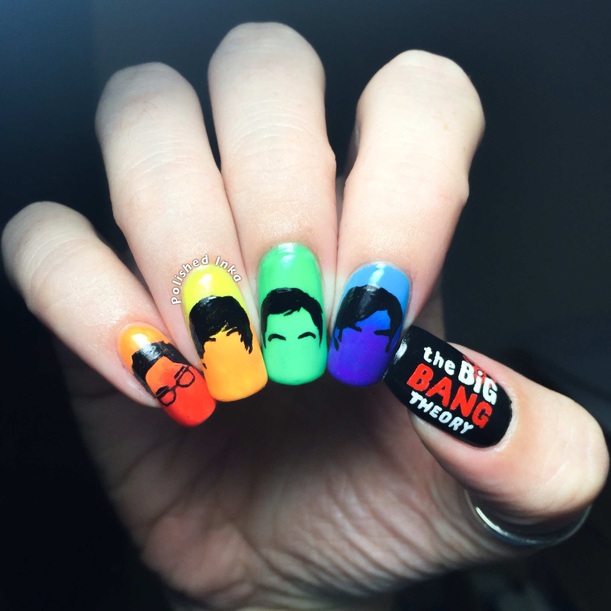 The big bang theory nail art polished inka using acrylic paints i recreated these silhouettes and i am so pleased with the results i hope you like it xoxo prinsesfo Image collections
