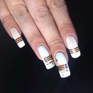 polished Inka forrest gump nail art