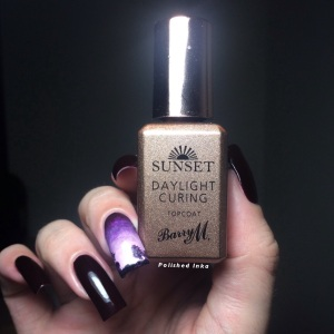 Barry M AW2015 Sunset daylight Curing Polish Top Coat