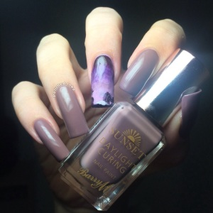Barry M AW2015 Sunset daylight Curing Polish Dark Side Of The 'Shroom Swatch