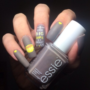 polished Inka I Like Big Cups Nail Art Essie