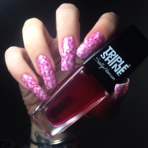 Polished Inka Pink Pond Mani Nail Art