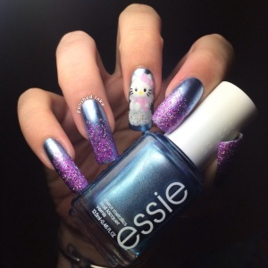 Polished Inka Angel Hello Kitty Nail Art