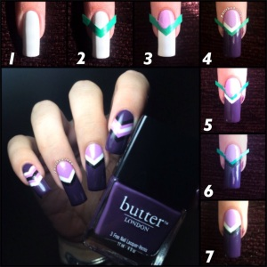 chevron nail art butter london barry m nail vinyls