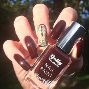 Polished Inka Barry M Midnight Gelly Black Cherry