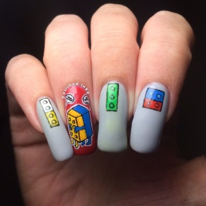 polished Inka Lego Nail Art