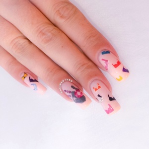 coppafeel breast cancer awareness nail art barry m sunset daylight curing do you pink i'm sexy?