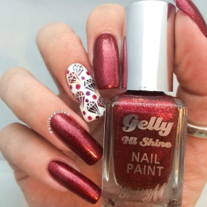 Barry M Limited Edition Glitter Gelly Christmas 2015 Sparkling Ruby  Review