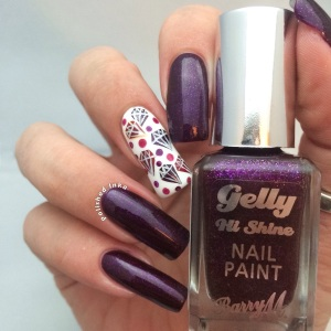 Barry M Limited Edition Glitter Gelly Christmas 2015 Sparkling Amethyst  Review