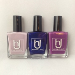 hJ manicure Swatch Review  thunderstorm purple paradise midnight sky