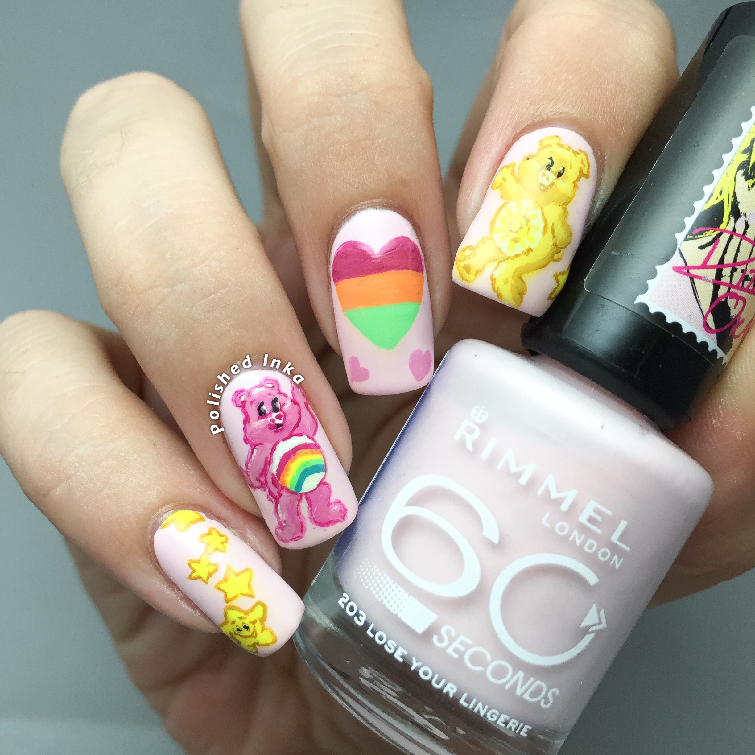 care bears nail art rimmel london