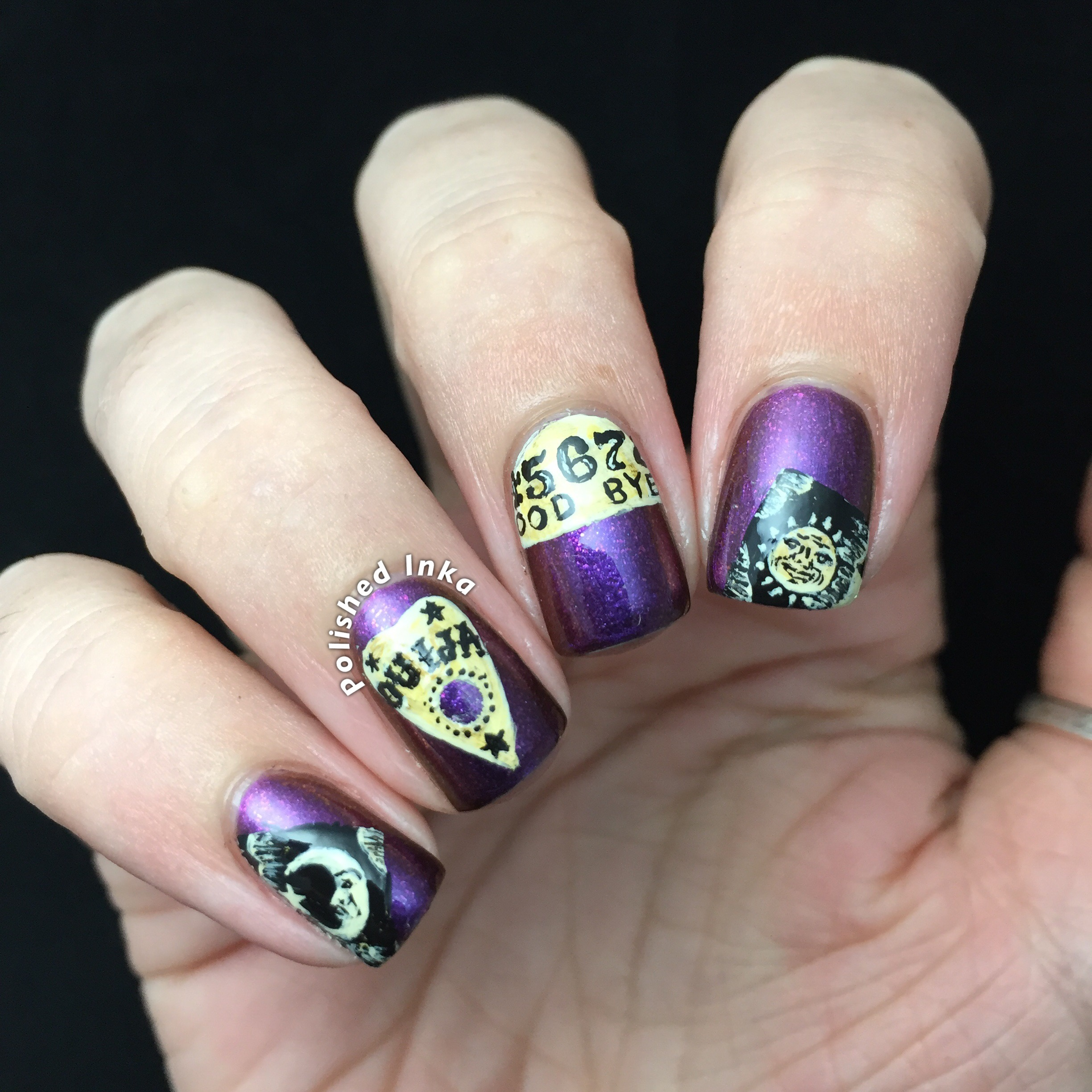 halloween ouija board nail art cirque colours nail polish