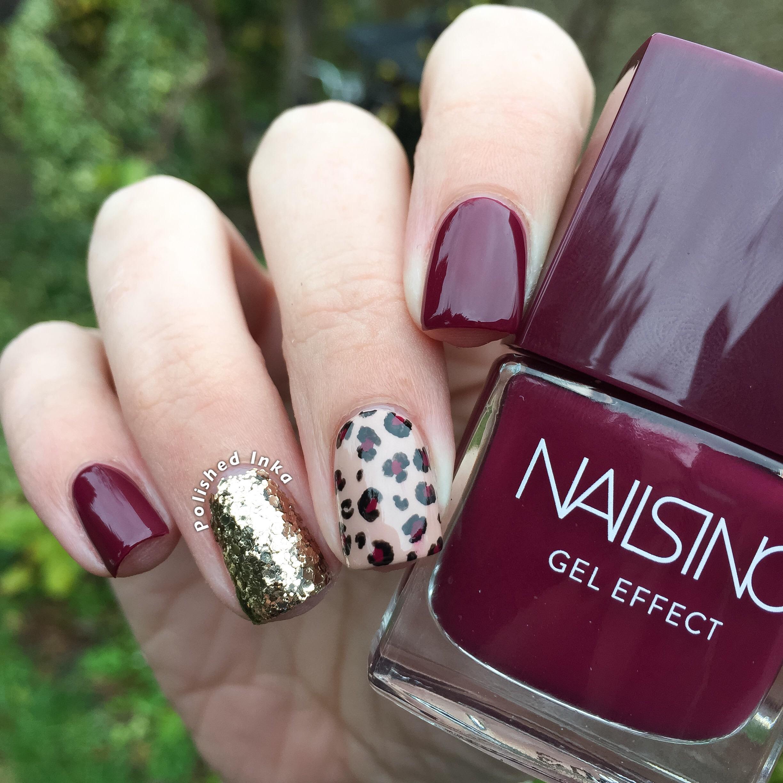 nails inc rimmel essie leopard print nails nail art