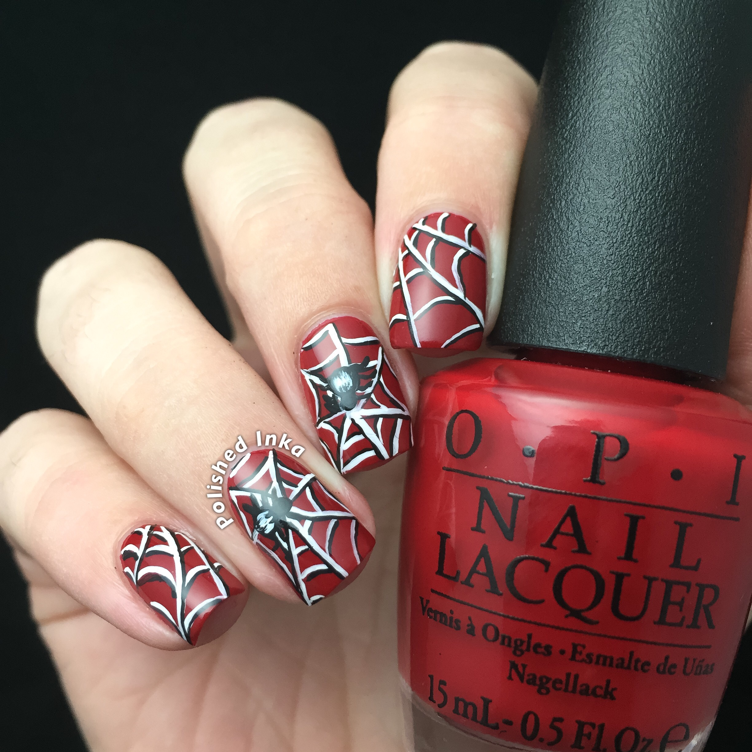 Halloween Spiderweb Nail Art – Polished Inka