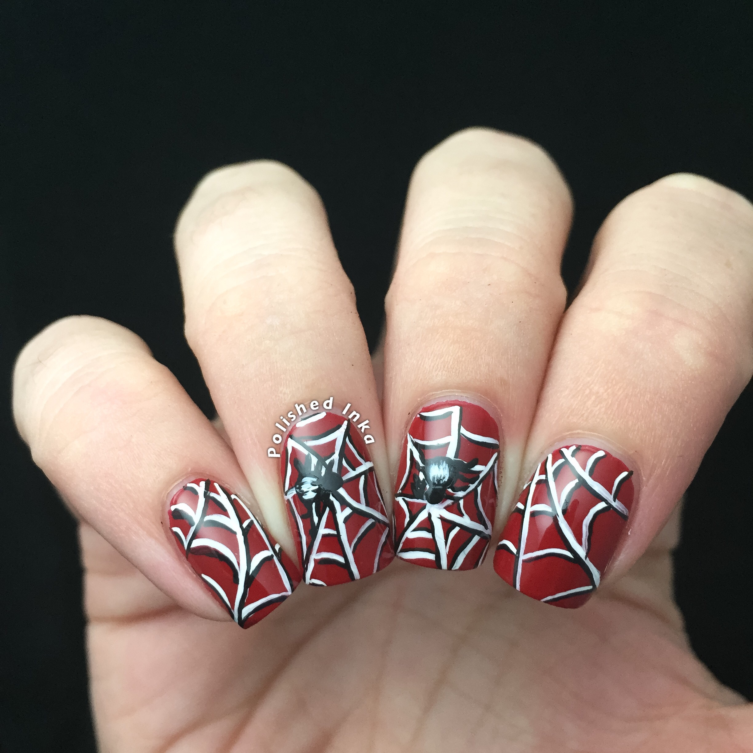 Halloween Spiderweb Nail Art