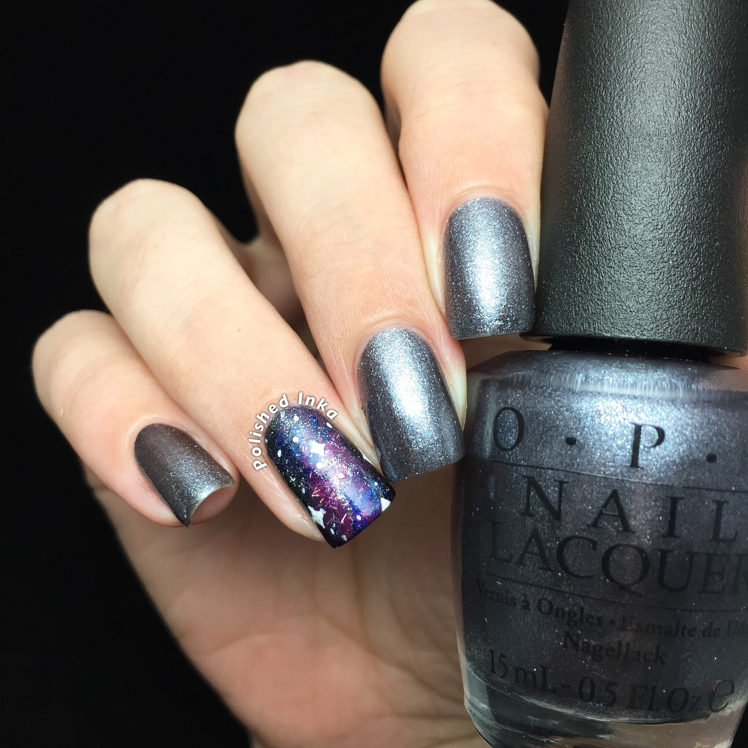 OPI Starlight Collection Christmas 2015 No More Mr. Night Sky Swatch