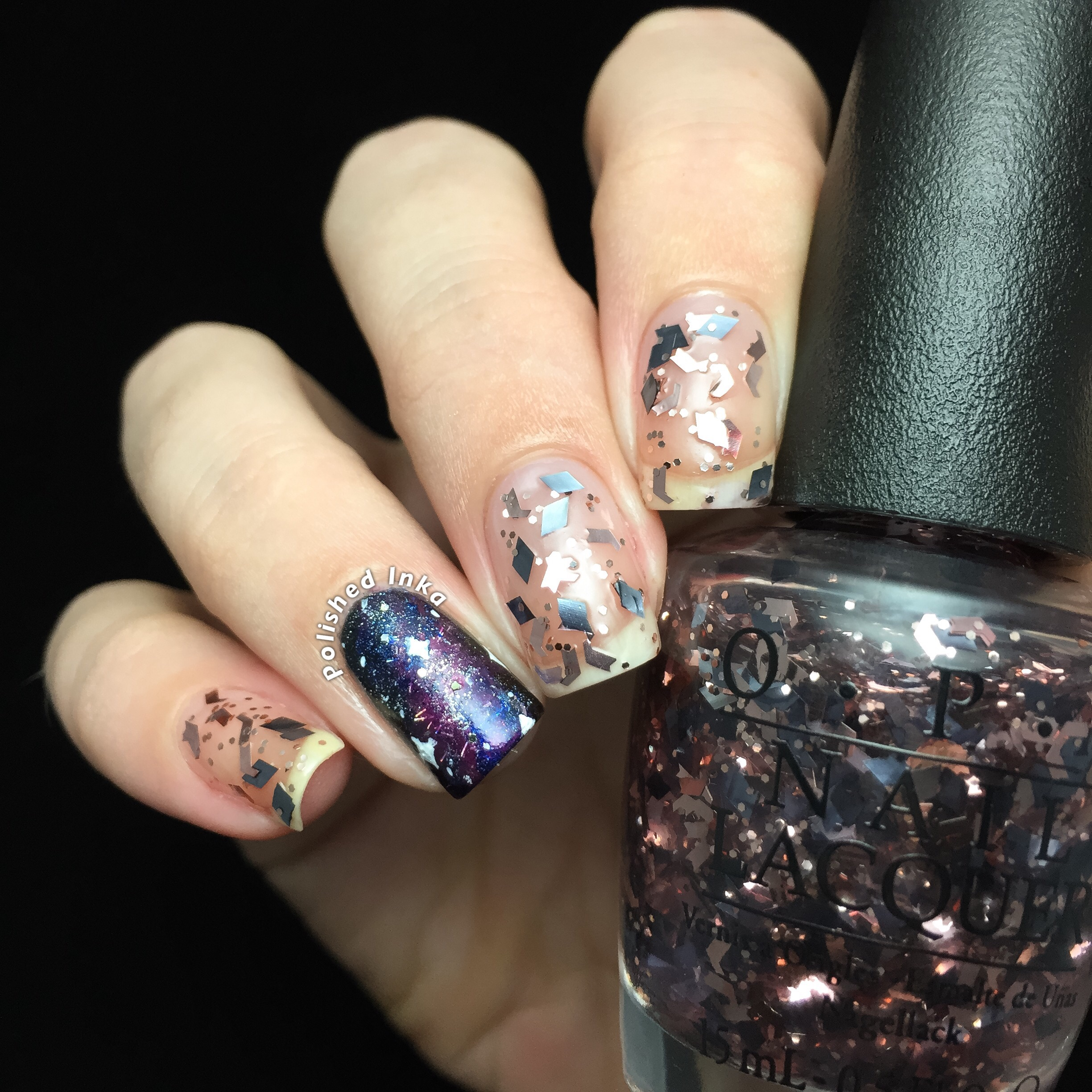 OPI Starlight Collection Christmas 2015 Two Wrongs Dont Make A Meteorite Swatch