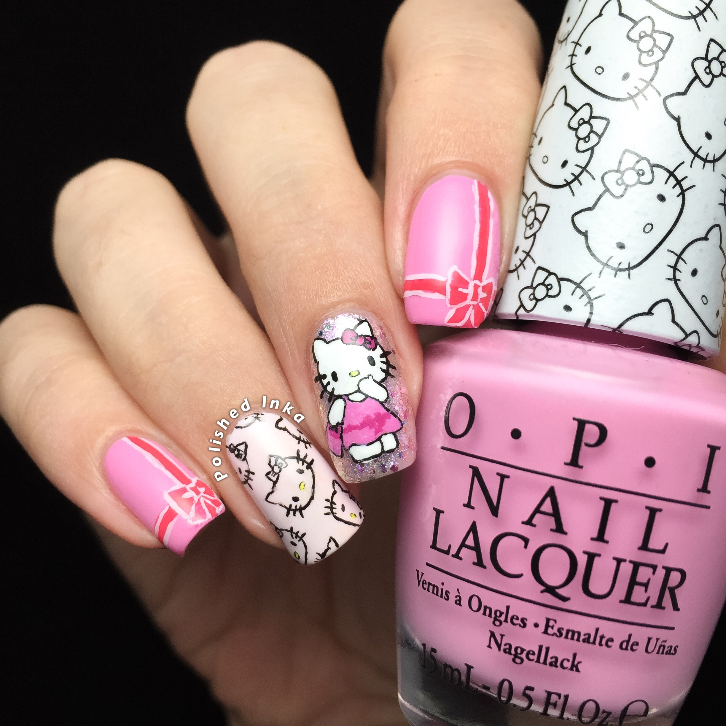 Hello Kitty Nail Art – Polished Inka