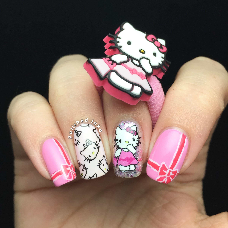 Hello Kitty Nail Art – Polished Inka