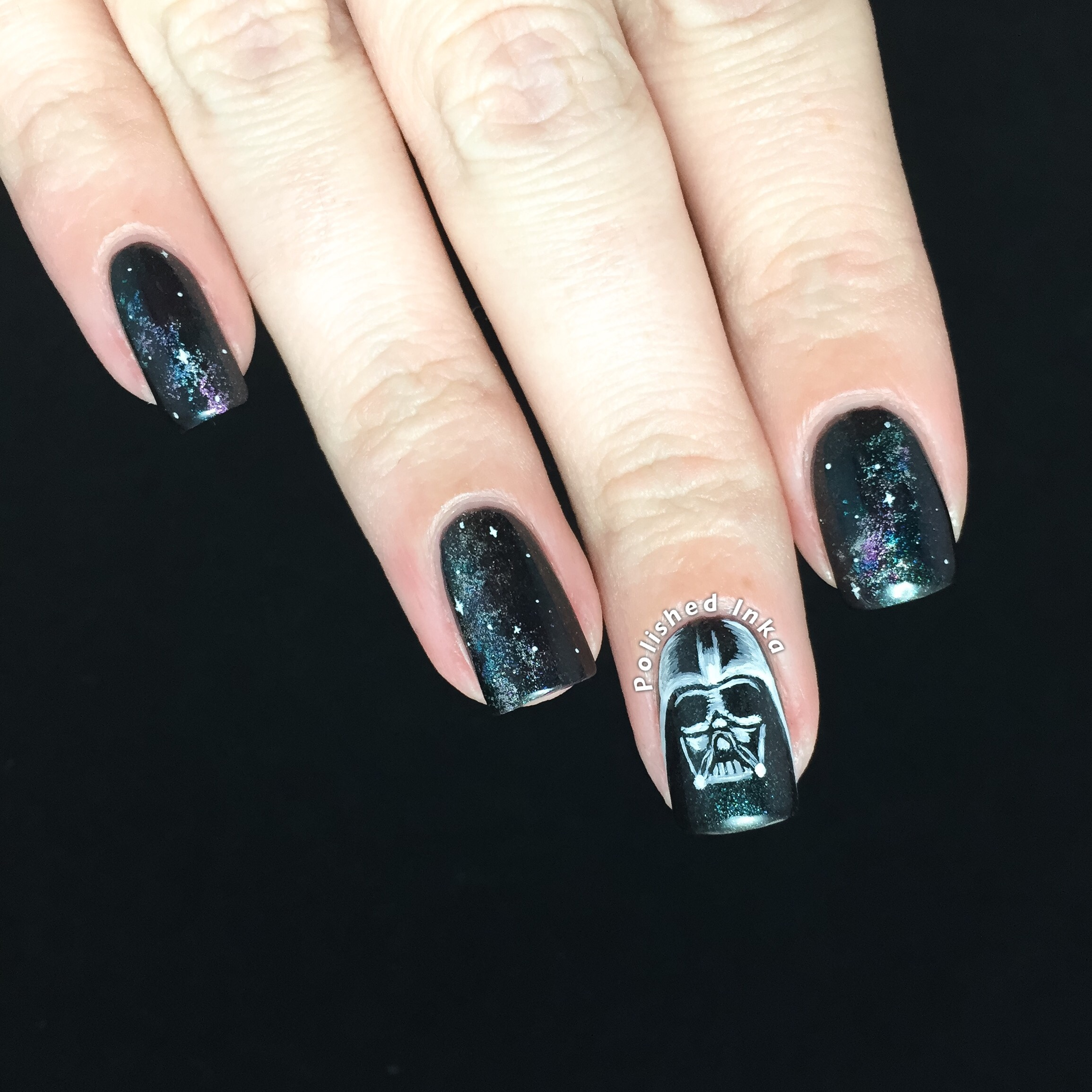Polished Inka Darth Vader Nail Art