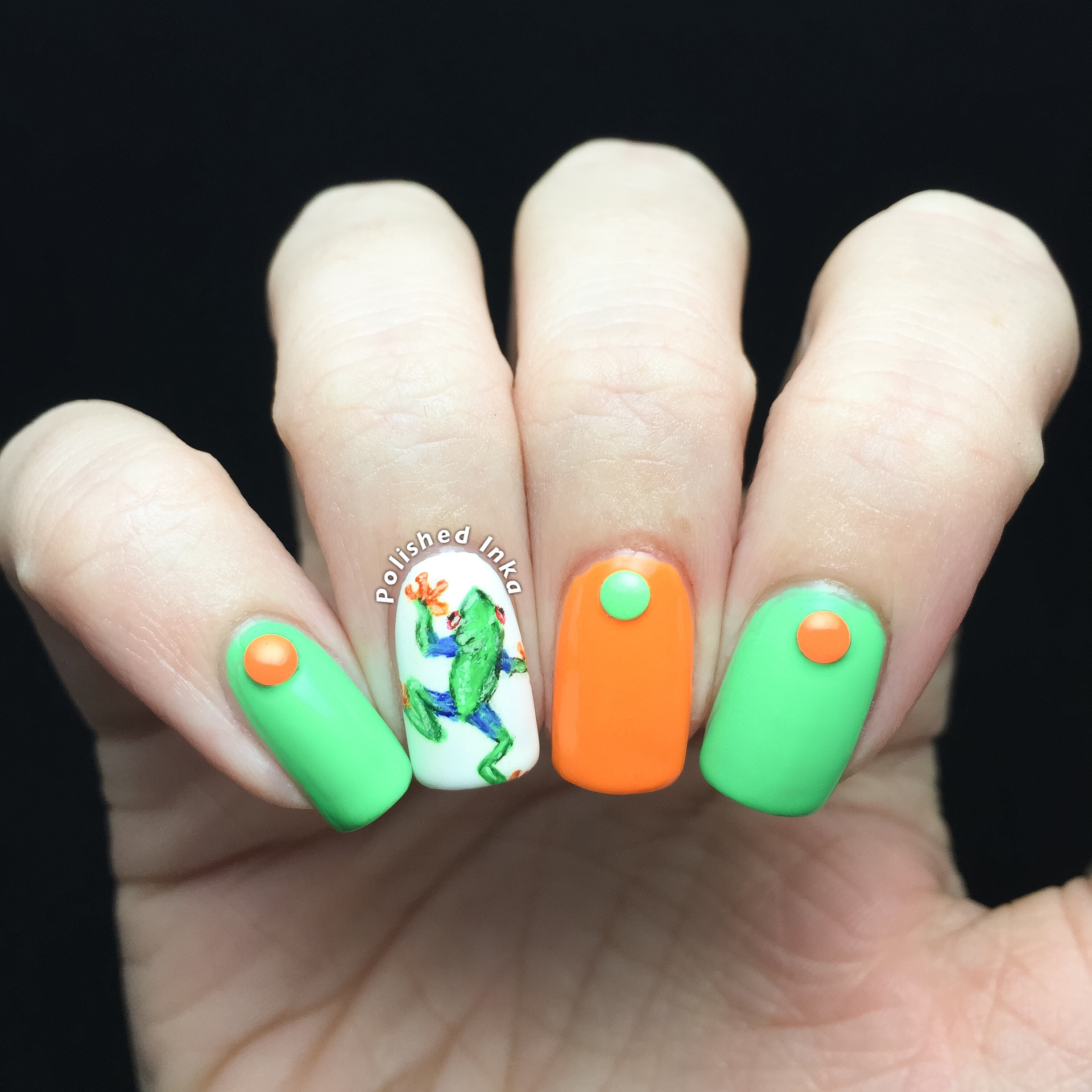 Tree Frog Nail Art – Polished Inka
