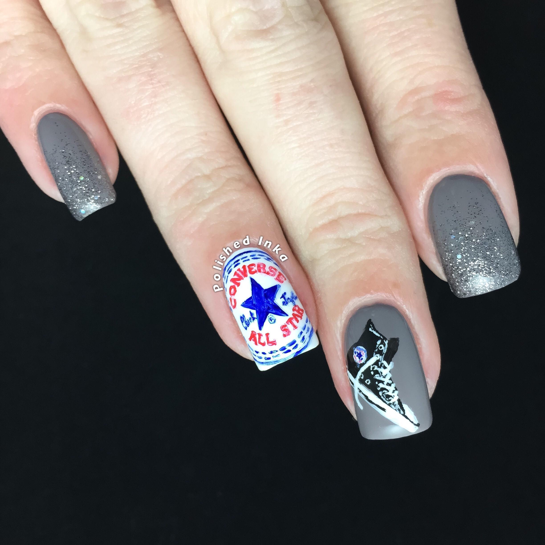 Nail Art Couture Converse Nail Art: Converse Nail Art
