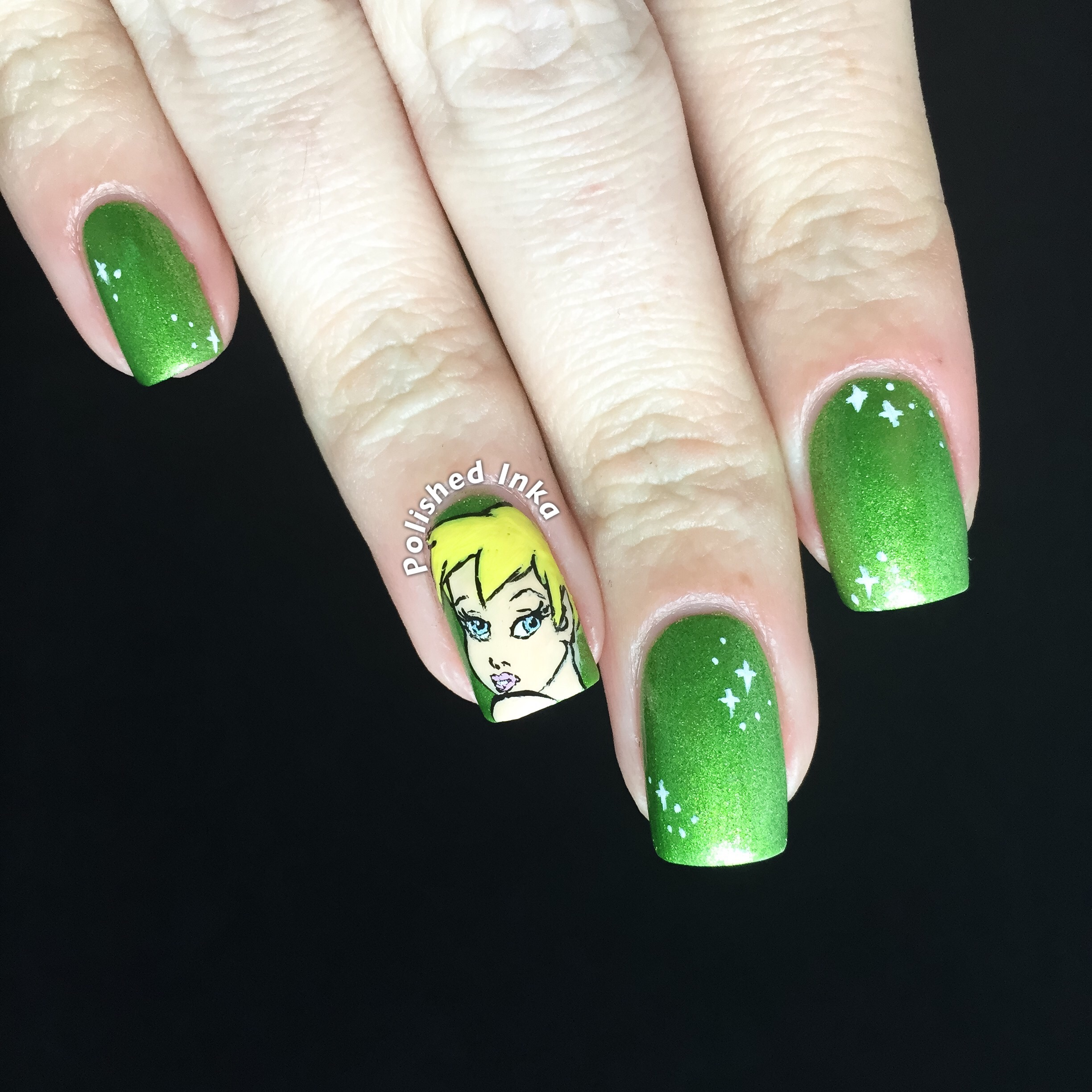Tinkerbell nail art polished inka advertisements prinsesfo Gallery