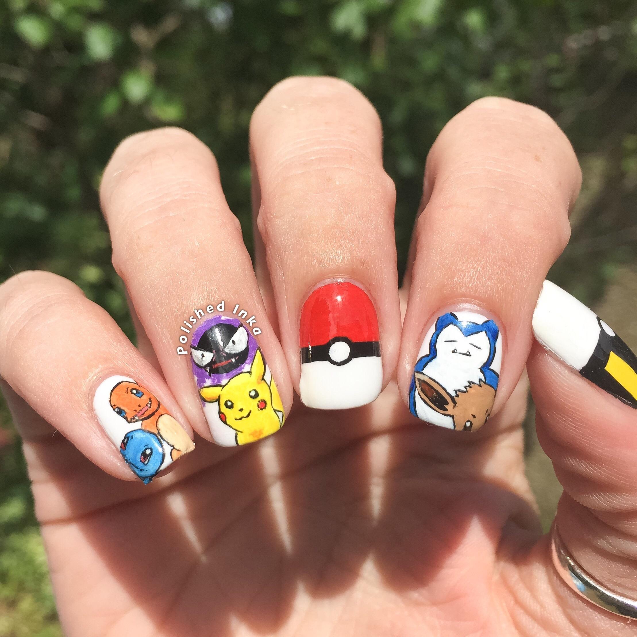 Pokemon Nail Art Polished Inka