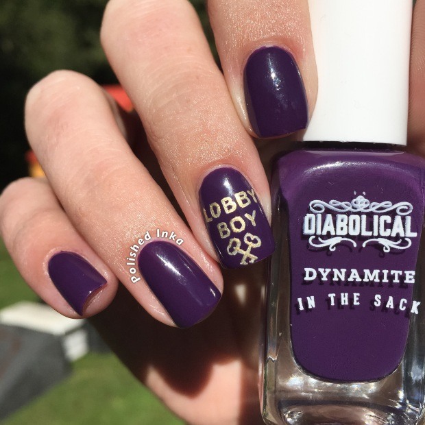 firebox.com diabolical nail varnish  dynamite in the sack swatch review