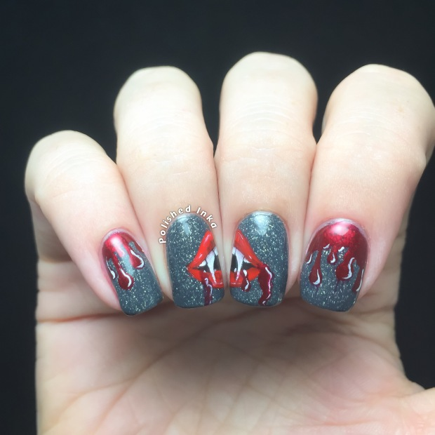 Halloween Vampire Nail Art – Polished Inka