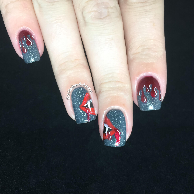 Halloween Vampire Nail Art Polished Inka