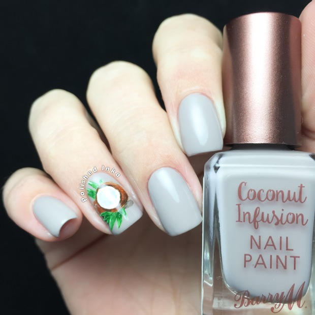 Barry M AW16 Coconut Infusion Nail Paints Oyster swatch