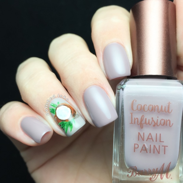 Barry M AW16 Coconut Infusion Nail Paints Paradise Swatch