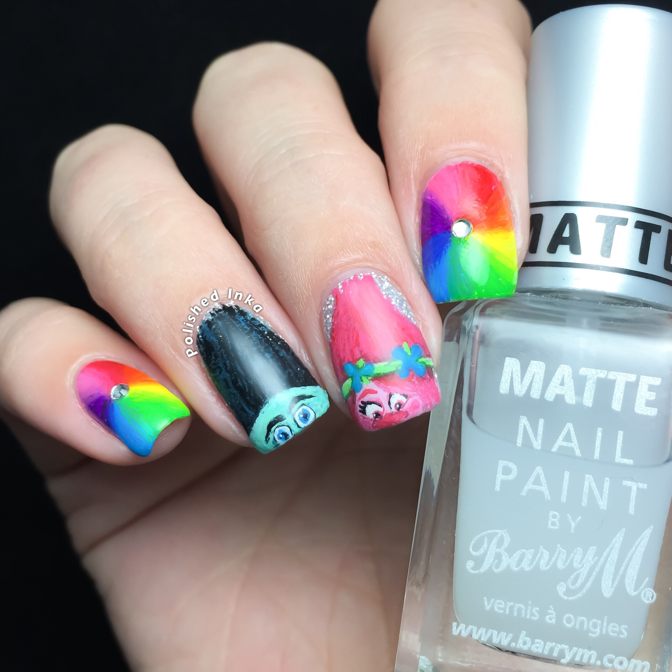 Nail Art: Trolls Movie Nail Art