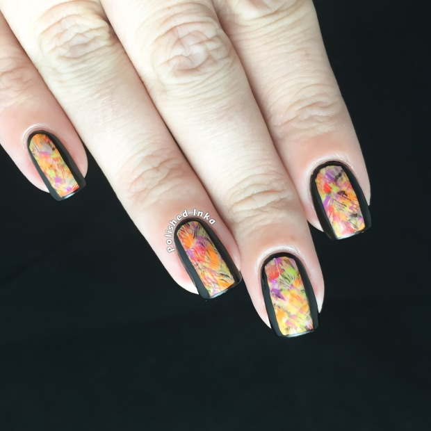 Halloween Dry Brush Nail Art