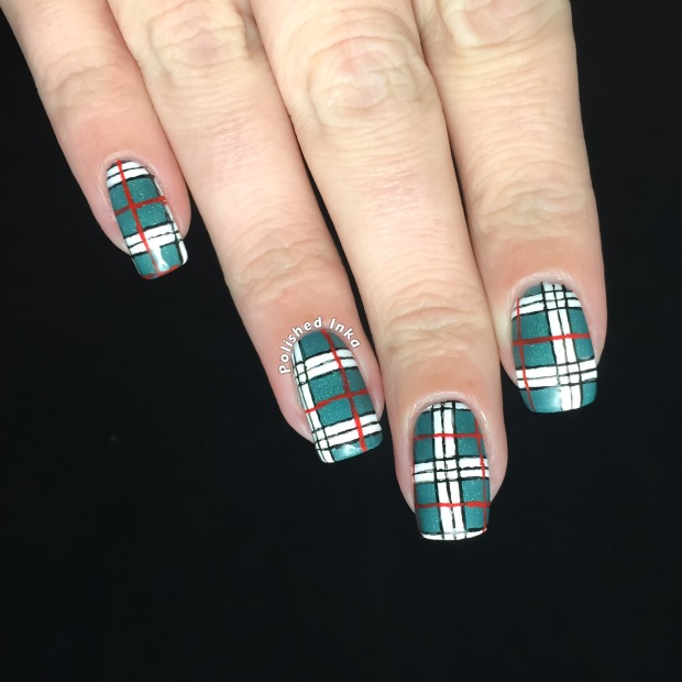 A-Ca-Awesome Plaid Nail Art - Polished Inka